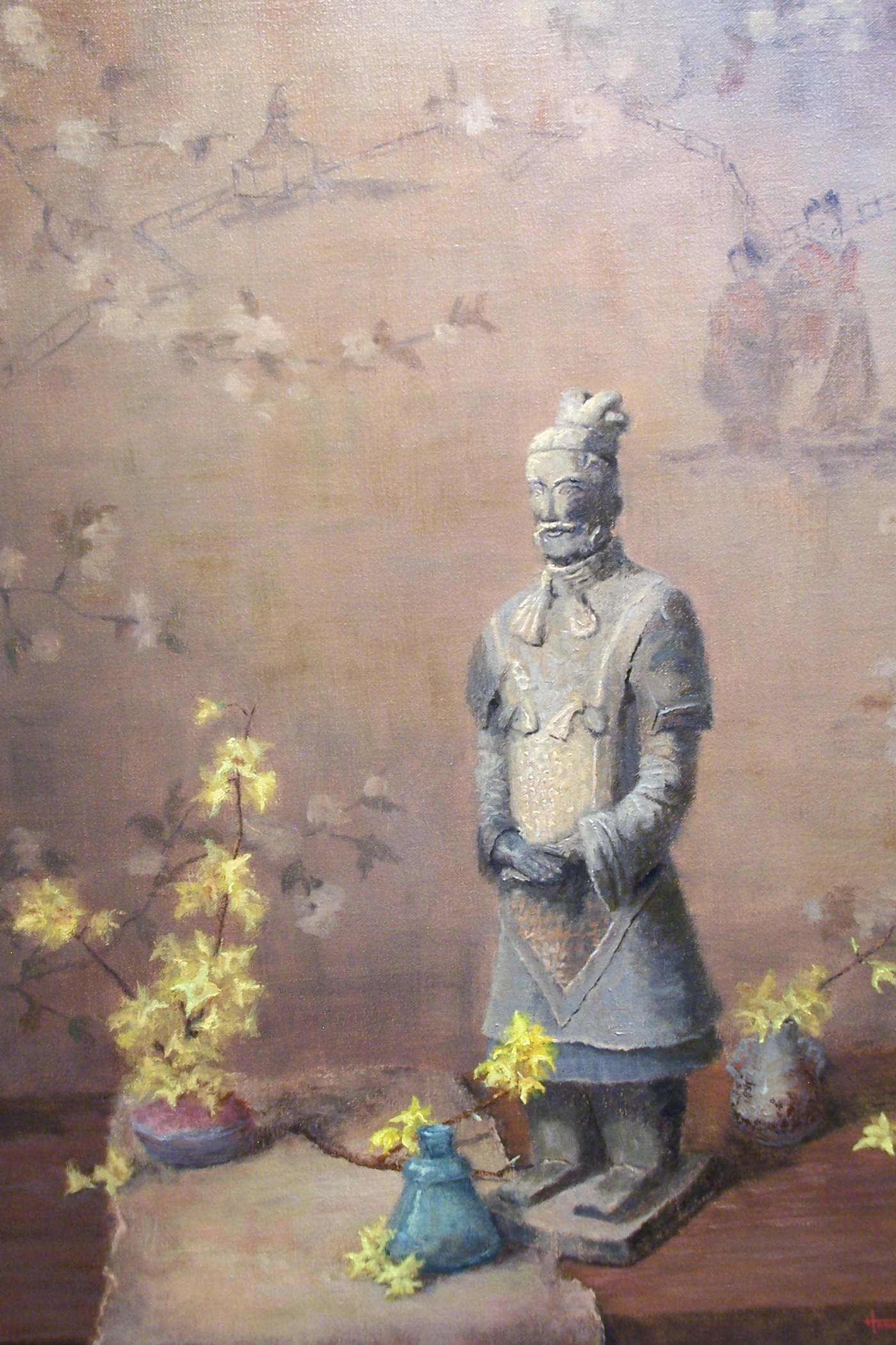 Qin Shi Huang Warrior (oil on linen 24x18)
