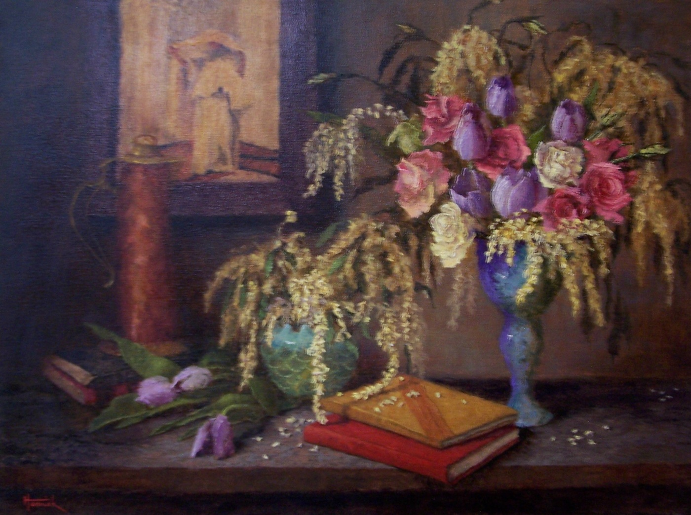 "Still Life with ""Fumee D'Ambre Gris"" (Oil on Linen 18x24<br>"