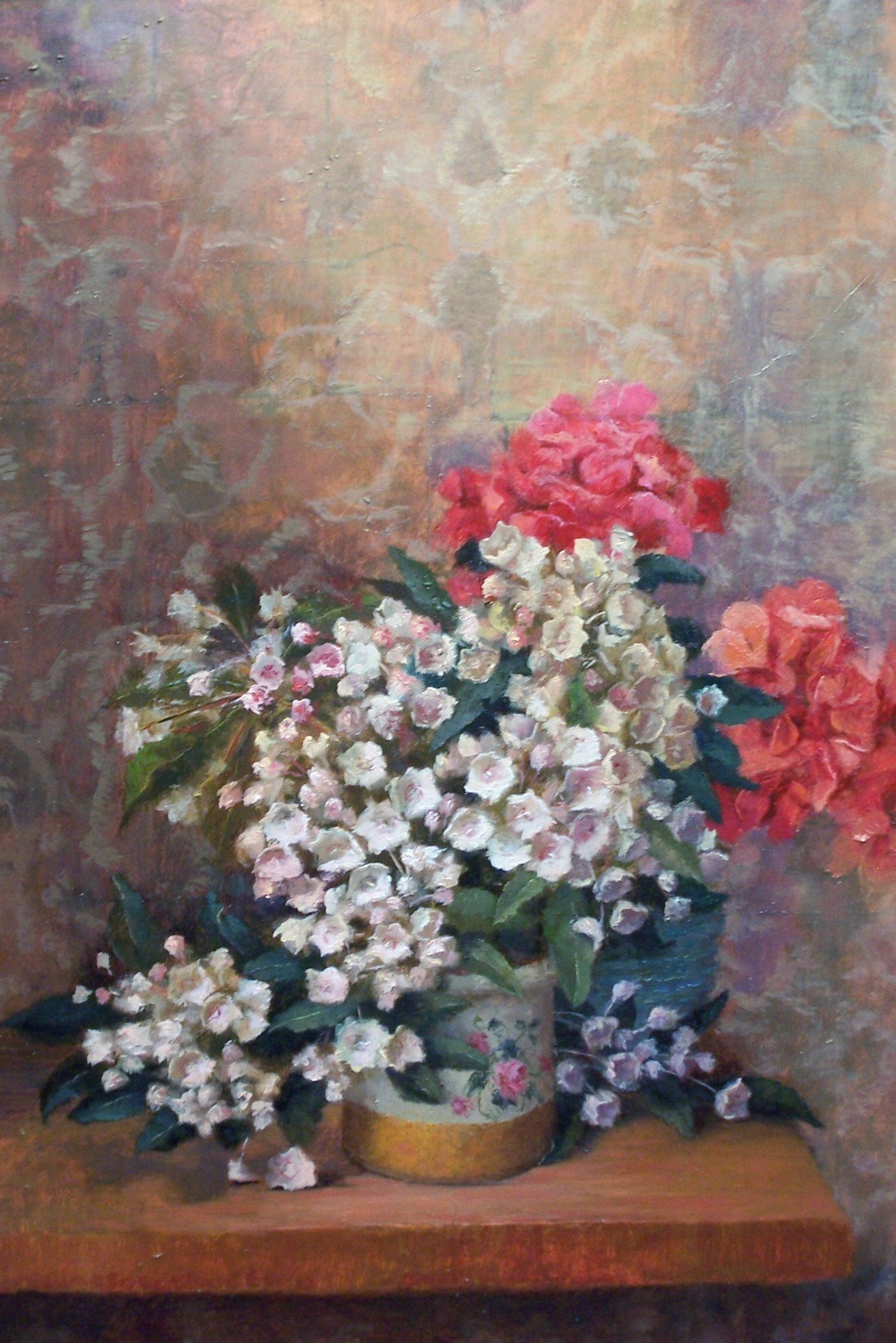 Mountain Laurel and Geraniums 12x16 (sold)