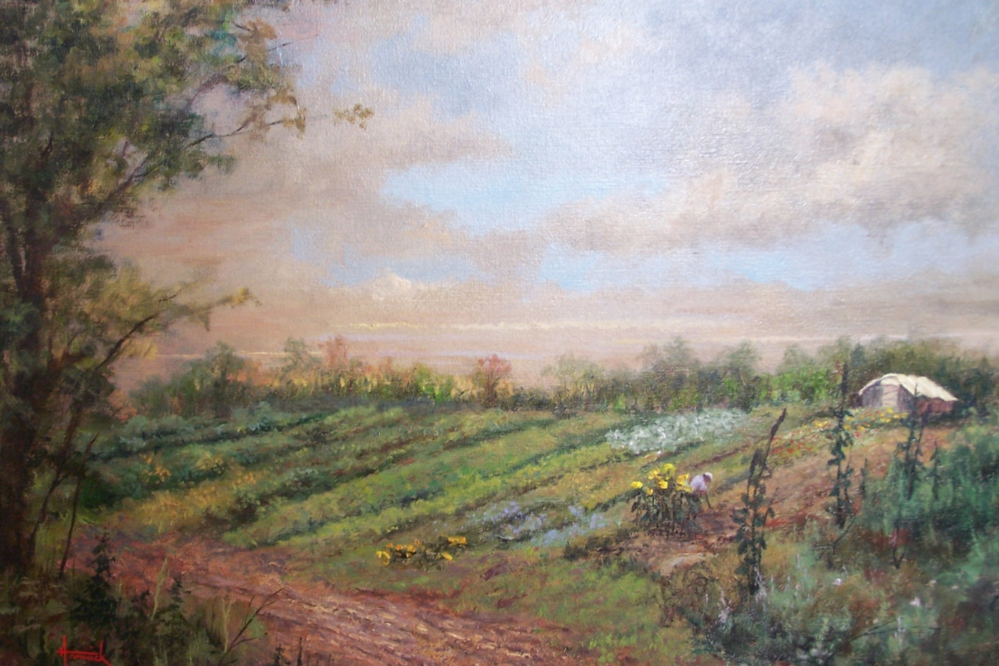 Fair Acres Farmland (Oil on Linen 14x20)